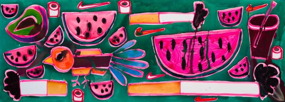 Katherine Bernhardt: Green